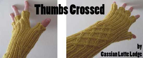 Thumbs Crossed, by Cassian Lotte Lodge, as featured in Knit Now #40 Oct 2014. Shared here under Creative Commons.